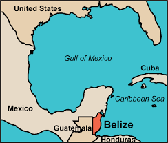 Map Of Western Caribbean by Where Is Belize Map To Show It U0027s Location In Central America