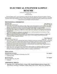 mechanical engineer resume examples electrical engineering resumes electrical engineer resume example sample electrical engineer resume