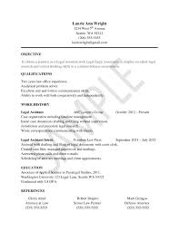 Student Resume Examples No Experience by Download Paralegal Resume Objective Haadyaooverbayresort Com
