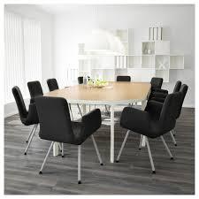 Ikea Kitchen Birch Bekant Conference Table Birch Veneer Black Ikea