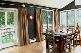 door inspiring windows decorating ideas with swing arm curtain