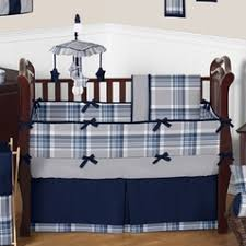 checks striped and plaid crib bedding