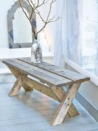 Diy Reclaimed Wood Storage Bench by Best 25 Diy Wood Bench Ideas On Pinterest Diy Bench Benches