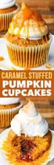 dairy u0026 gluten free caramel stuffed pumpkin cupcakes the loopy whisk