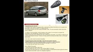 subaru keyless remote programming subaru outback youtube