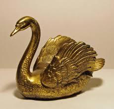 Brass Home Decor by Vintage Brass Swan Pm Craftsman Brass Swan Paperweight