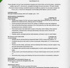 Construction Management Resume Examples by Fancy Design Sample Project Manager Resume 10 Project Manager
