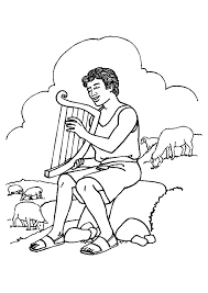 harp coloring page david and goliath coloring pages playing the harp coloringstar
