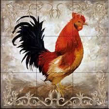 kitchen backsplash tile mural hen and rooster kitchen wall tile