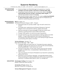 Resume Examples Retail Manager by Resume For Retail Management