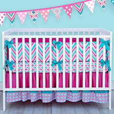 ikat lila crib bedding set tiffany blue meets pink shops