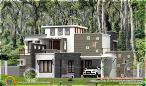 flat roof house with 4 bedroom kerala home design and floor plans