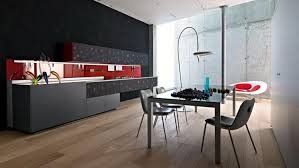 Italian Kitchen Design Italian Modern Kitchen Design With Black Cabinetry And Dining Area