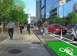 How Denver got an oil company to help crowdfund a protected bike     People for Bikes A Denver business group is soliciting contributions for this protected bike lane on Denver     s Arapahoe Street  Rendering  Alta Planning   Design