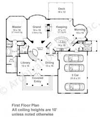 centre street luxury floor plan traditional house plan