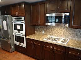 Dark And White Kitchen Cabinets Decor White Kitchen Cabinets With Under Cabinet Microwave And
