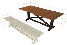Building Plans For Picnic Table Bench by Remodelaholic Rustic X Dining Table And Bench Building Plan