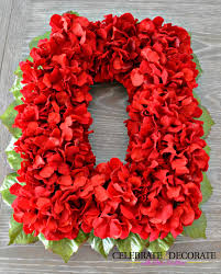 Celebrate Home Interiors by An Easy Diy Red Flower Christmas Wreath Celebrate Decorate Idolza