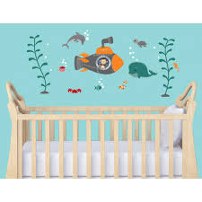 Baby Room Wall Murals by Nursery Wall Decals With Nautical Wall Decor For Baby Room