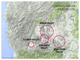 Maps Oregon by Treasure Map Of West Coast Syrah Wine Folly
