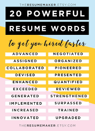 Resume Power Words  Free Resume Tips  Resume Template  Resume Words  Action Words  Resume Tips College  Resume Help  Resume Advice Want to travel the world
