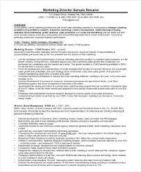Sample Resume For Senior Manager by Marketing Manager Resume Examples 8001035 Marketing Director