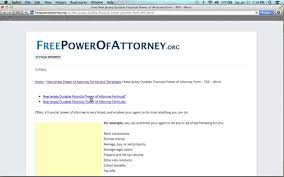 Free Durable Power Of Attorney For Health Care Form by How To Fill In A New Jersey Power Of Attorney Form Youtube