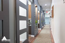 Office Door Design Stacked Slate And Sliding Glass Doors Dental Office Design By