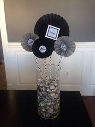 image result for center pieces for a mans birthday party 50 th