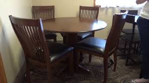 Ashley Furniture Round Dining Sets Ashley Furniture Stuman Round Drop Leaf Table Set Review Youtube