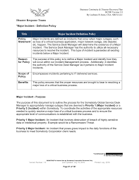 Business Continuity And Disaster Recovery Plan Template Sample Bcdr