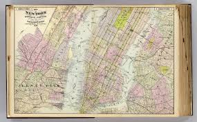 Street Map Of New York City by 1 New York Brooklyn Jersey City David Rumsey Historical Map