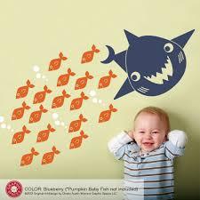 shark wall decals etsy kids shark wall decal ocean sea life underwater nursery