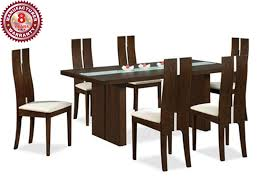 Buy Rubber Wood Furniture Bangalore Buy Woodflux 6 Seater Wooden Dining Table U0026 Chairs Online In Mumbai
