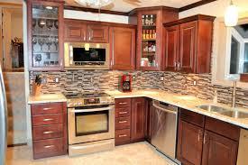 Kitchen Room  Design Kitchen Backsplash For Dark Cabinets Kitchen - Kitchen backsplash ideas dark cherry cabinets