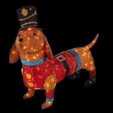 The Home Depot Christmas Decorations Home Accents Holiday 40 In Pre Lit Tinsel Dachshund Dog In