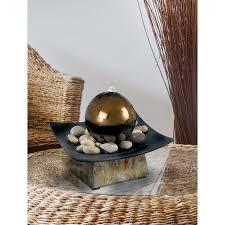 Gazing Ball Fountain Amazon Com Kenroy Home 50235sl Sphere Indoor Table Fountain