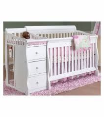 Convertible Crib Changer Combo by 4 In 1 Crib With Changing Table Georgi Furniture