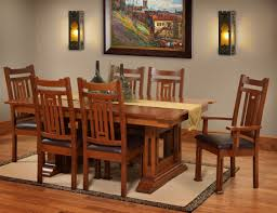 mission style dining room home design ideas
