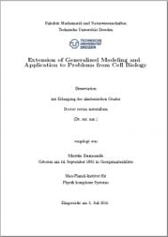 Theses   Biond Group Homepage Extension of generalized modeling and application to problems from cell biology