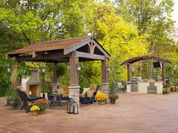 Diy Outdoor Kitchen Ideas Decorations Splendid Outdoor Kitchen Idea With Fireplace And