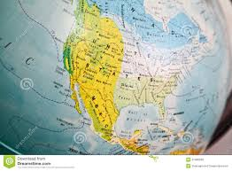 United States Map by United States Map On A Globe Stock Photo Image 41480599