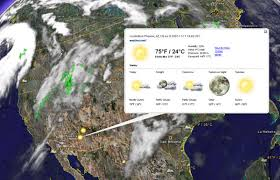 Google Earth estrena noves capes de meteorologia