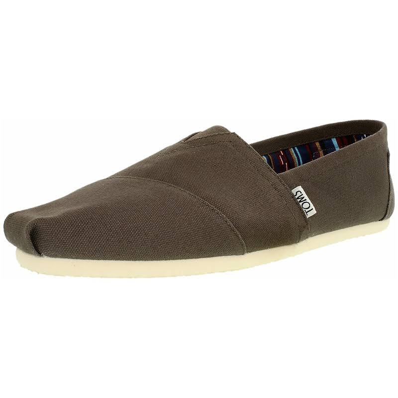 Toms Alpargata Canvas Ash Ankle-High Flat Shoe Men