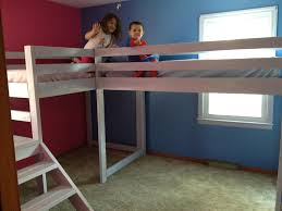 Plans For Building Bunk Beds by Twin Loft Beds With Platform Do It Yourself Home Projects From