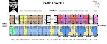 Condominium Floor Plans Smdc Fame Residences