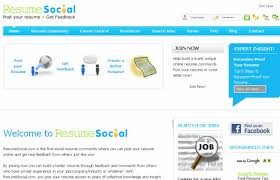 Best Job Sites To Post Resume by 10 Great Social Sites For Resume Building