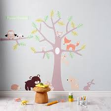 wall stickers notonthehighstreet com pastel forest friends wall stickers