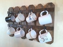 coffee cup holder mug display country kitchen farmhouse decor