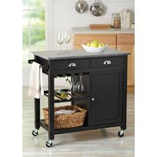 Kitchen Cart With Storage by Portable Kitchen Island With Wine Rack Outofhome